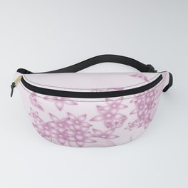 Elegant flowers and butterflies in pink Fanny Pack