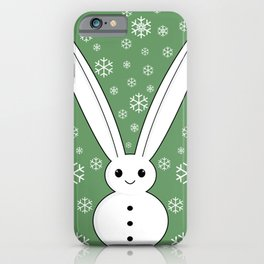 Snow bunny and snowflakes iPhone Case