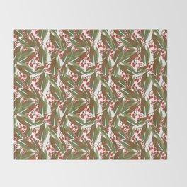 Flowering Gum - White Throw Blanket
