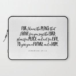 Jeremiah 29:11 - Bible Verse Laptop Sleeve