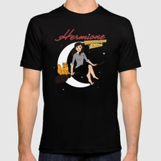 Hermione the Teenage Witch Mens Fitted Tee Black MEDIUM