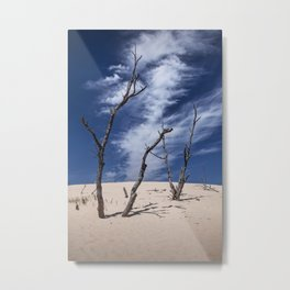 Silver Lake Dune with Dead Trees and Cirrus Clouds Metal Print