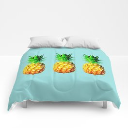 Fresh pineapples Comforters