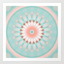 Mandala newborn child Art Print