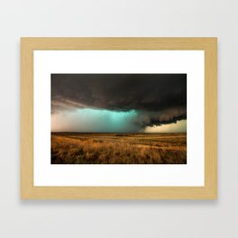 Jewel of the Plains - Storm in Texas Framed Art Print