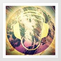 dj Art Prints featuring DJ by Sara LG
