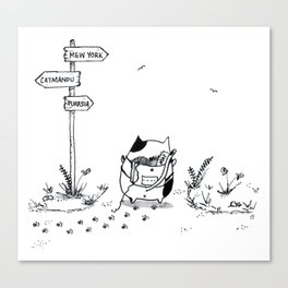 Cat Adventure Canvas Print
