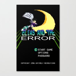 """Elias and the Error """"Title Screen"""" Canvas Print"""