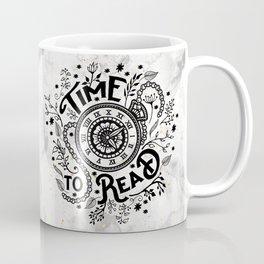 Time to Read - Black Coffee Mug