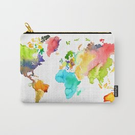 Watercolor World Carry-All Pouch