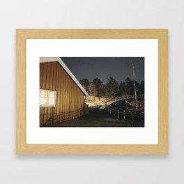 Night falls in Norway Framed Art Print