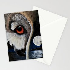 Eagle Owl - The Watcher - by LiliFlore Stationery Cards