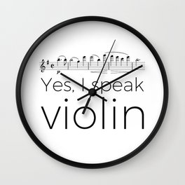 I speak violin Wall Clock