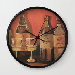 The BEST WINES Wall Clock