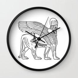 The Lamassu of Nineveh Wall Clock