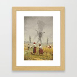 1920 -The march of the Iron Scarecrows Gerahmter Kunstdruck