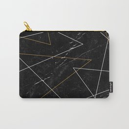 Minimalistic Pattern Marble Carry-All Pouch