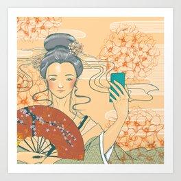 Those who selfie Art Print