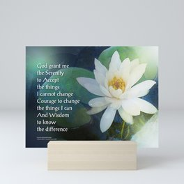 Serenity Prayer Lotus One Mini Art Print