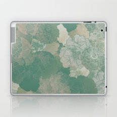 Teal Green Floral Hues Laptop & iPad Skin
