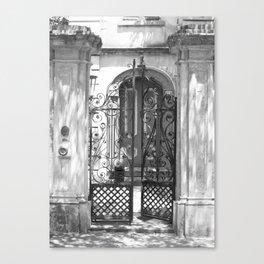 Wrought Iron Gate - Charleston, South Carolina Canvas Print