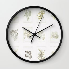 Naturalist Mosses Wall Clock