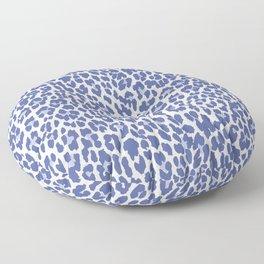 Blue Leopard Print Floor Pillow
