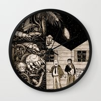 bugs Wall Clocks featuring Bugs by The Art of Filippo Borghi
