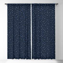 Indigo blue graphic ditsy polka dots seamless pattern. Blackout Curtain