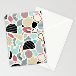Sandstorm Abstract Shapes Stationery Cards