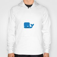 moby dick Hoodies featuring Delightful Moby Dick by Phillip Gessert