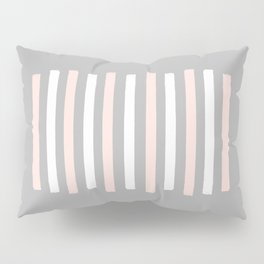 Simple Pink and White Stripes Pillow Sham