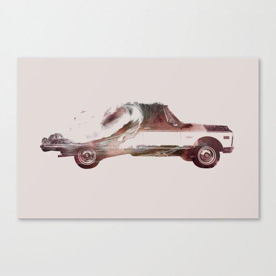 Drive me back home 3 Canvas Print