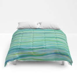 Surf Abstract Waves Comforters