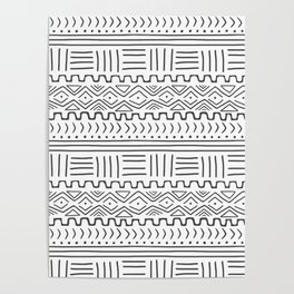 Mud Cloth on White Poster