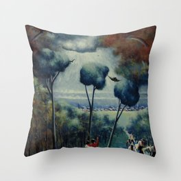 African-American 1927 Classical Masterpiece 'Town of Hope' by Archibald Motley Throw Pillow