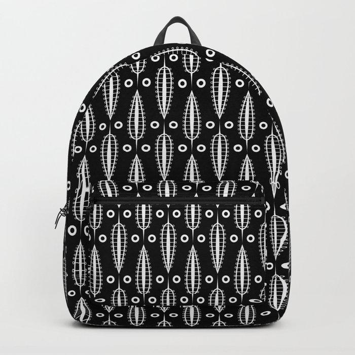 Art Deco No. 20 Fishnet white sheets . Backpack