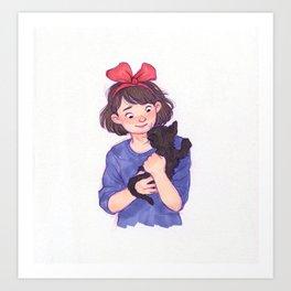 Kiki and Jiji Art Print