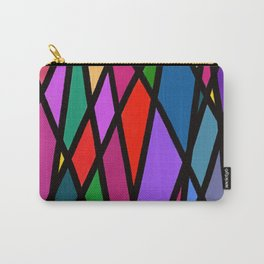 Purple Diagonals Carry-All Pouch