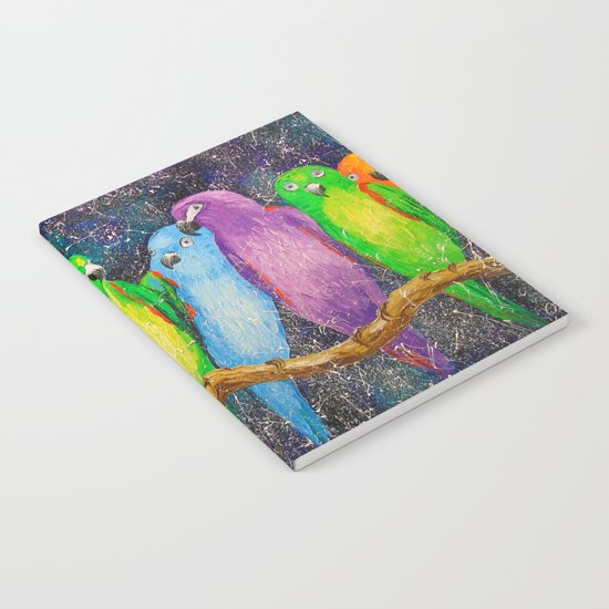 Parrots friends Notebook