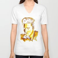 elvis presley V-neck T-shirts featuring Elvis Presley by GittaG74