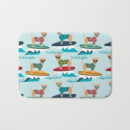 chihuahua pattern surfing cute pet gifts dog lovers chihuahuas Bath Mat