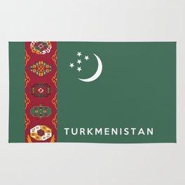 flag of Turkmenistan Rug