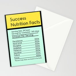 Success Nutrition Facts Stationery Cards