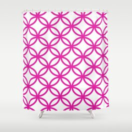 Interlocking Pink Shower Curtain
