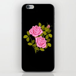Painted Pink Roses iPhone Skin