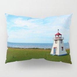 Long Bridge and Tiny Lighthouse Pillow Sham
