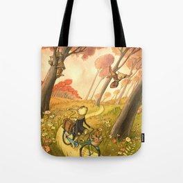 Bike Ride Through The Woods Tote Bag
