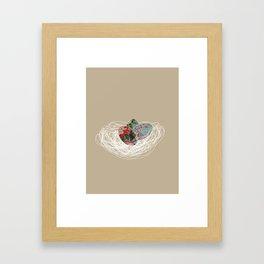 Eggs in a nest Framed Art Print