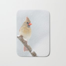 Female Northern Cardinal Bath Mat